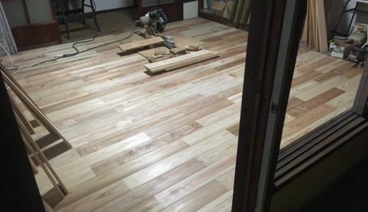 本日の大工作業日誌6 床はりその5 〜DIY女子向け安全な木材カットの方法〜